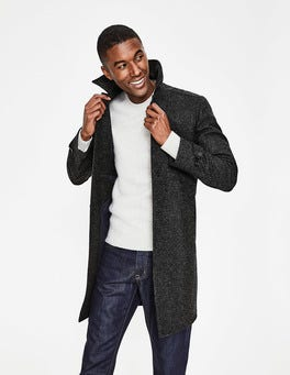 Dark Grey Check Darley Tweed Car Coat