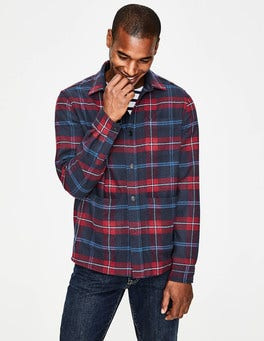 Navy Blue Check Alderley Overshirt