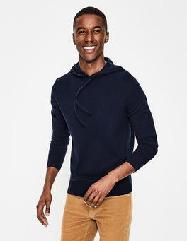 Navy Cashmere Hoody