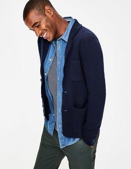 Navy Milano Knitted Blazer