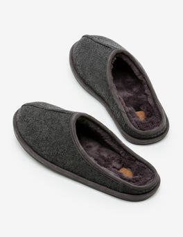 Charcoal Felted Slippers