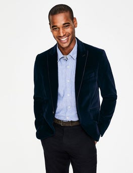 Midnight Navy Rivington Velvet Jacket