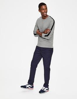 Grey Marl/Navy Stripe Whistler Sweatshirt