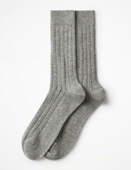 Grey Marl Cashmere Socks