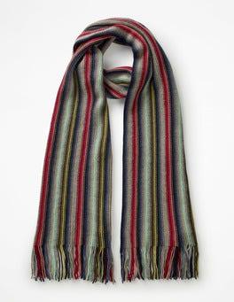 Multi Stripe Cashmere Stripe Scarf