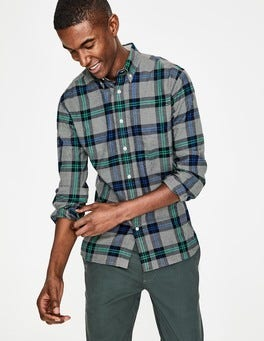 Grey Marl Check Hebden Flannel Shirt
