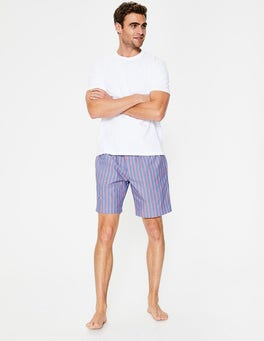Duke/Tropical Orange Stripe Cotton Poplin Pyjama Shorts
