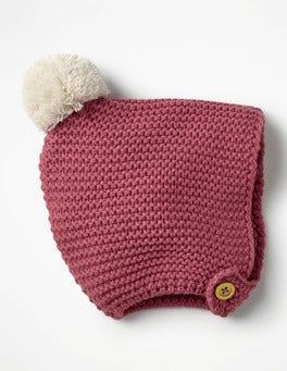 Autumn Rose Pink Knitted Bonnet