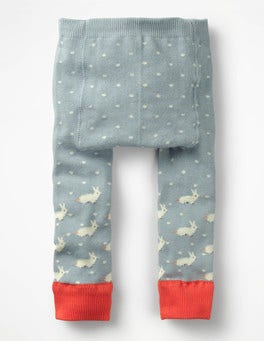 Dover Sky Pin Spot Knitted Leggings