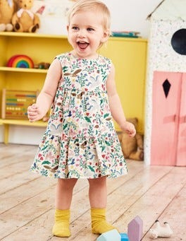 Tiered Corduroy Dress