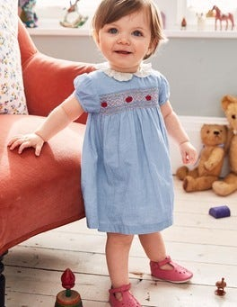 Pretty Collared Smock Dress