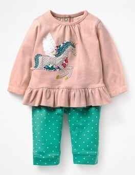 Provence Dusty Pink Unicorn Magical Appliqué Play Set