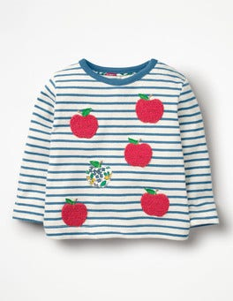 Azure Blue/Ecru Pretty Bouclé T-shirt