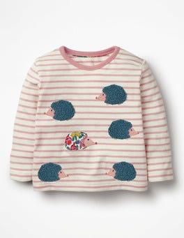 Almond Blossom Pink/Ecru Pretty Bouclé T-shirt