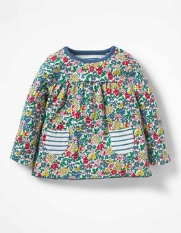 Multi Flowerbed Supersoft Reversible T-shirt