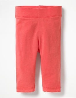 Coral Sunset Pink Baby Leggings