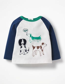 Ecru Farm Dogs Farmyard Sketch T-shirt