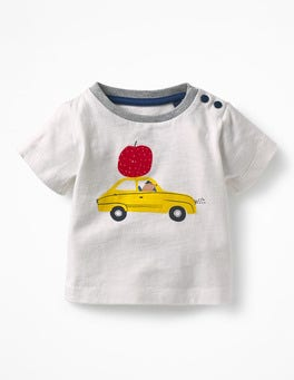 Ecru Car Printed Vehicle T-shirt