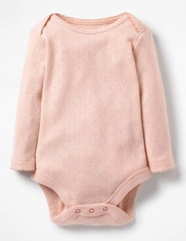 Provence Dusty Pink Supersoft Pointelle Bodysuit