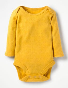 Honeycomb Yellow Supersoft Pointelle Body