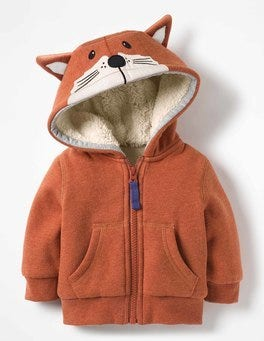 Fox Orange Shaggy Lined Fox Cub Hoodie