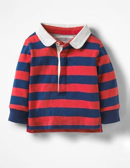 Cherry Tomato Red/Beacon Blue Hotchpotch Rugby Shirt