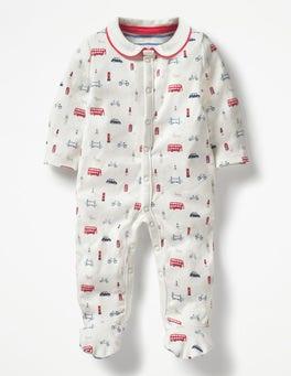 Ivory Printed Sleepsuit