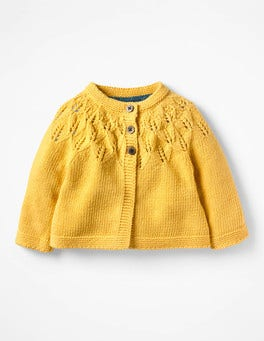 Honeycomb Yellow Cosy Cardigan