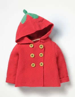 Poppy Pink Strawberry Fun Knitted Jacket