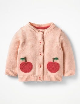 Provence Dusty Pink Apples Characterful Crochet Cardigan