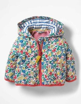 Multi Flowerbed Flowery Quilted Coat