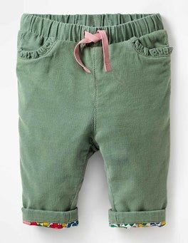 Appliqué Pocket Cord Pants