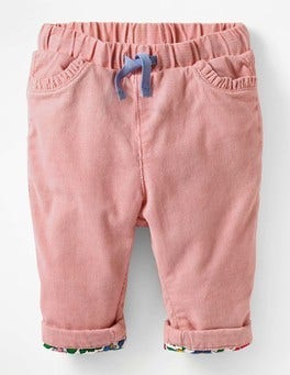 Almond Blossom Pink Apple Appliqué Pocket Cord Pants