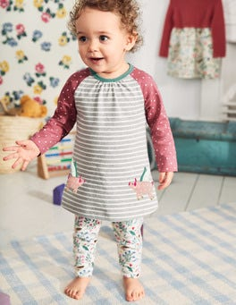 Appliqué Friends Dress Set