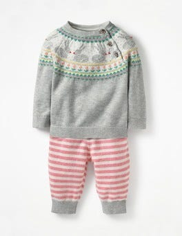 Grey Marl Fair Isle Fun Knitted Play Set