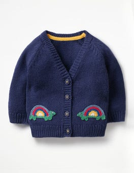 Beacon Blue Rainbow Tortoise Crochet Characters Cardigan