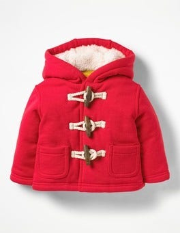 Engine Red Shaggy-lined Duffle Coat