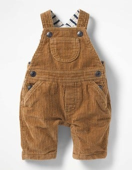 Teddy Bear Brown Classic Cord Overalls