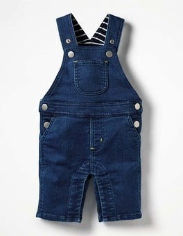 Denim Blue Jersey Denim Dungarees