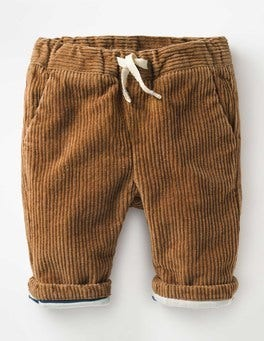 Teddy Bear Brown Colourful Cord Trousers