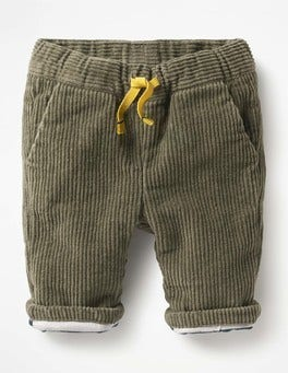 Army Green Colourful Cord Trousers