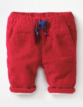 Engine Red Colourful Cord Trousers