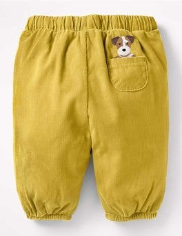 Sunshine Yellow Sprout Pocket Pet Cord Trousers