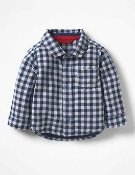 Beacon Blue Gingham Woven Shirt