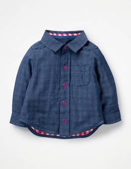 Chambray Blue Woven Shirt