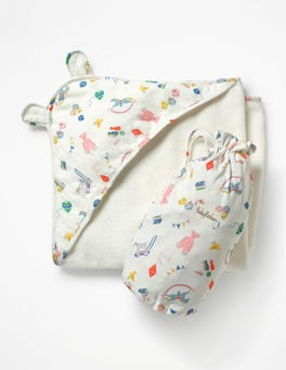 Multi Nursery Supersoft Hooded Towel