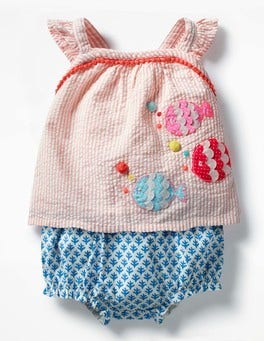 Almond Blossom Pink Coral Reef Strappy Woven Play Set