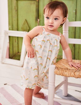 Short Rainbow Romper