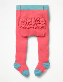 Crab Apple Pink Ruffle Tights