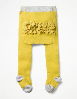 Sweetcorn Yellow Ruffle Tights